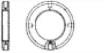 Гайка круглая с радиальными отверстиями для штифтов
