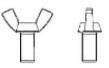 Винт барашек с прямоугольными лепестками