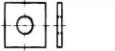 Шайба квадратная для деревянных конструкций