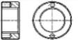 Гайка круглая с двумя торцевыми отверстиями
