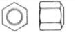 Гайка шестигранная высокая М6-М48