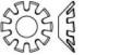 Шайба зубчатая упругая форма V