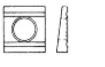 Шайба косая квадратная клиновая с двумя проточками