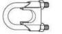 Зажим для троса с двумя шестигранными гайками