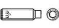 Винт установочный с внутренним шестигранником