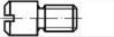 Винт с цилиндрической цапфой и шлицем