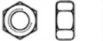 Гайка шестигранная с метрической и дюймовой резьбой